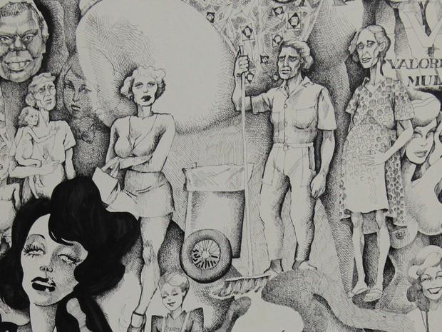 """Detalhe da capa da revista """"Nós Mulheres"""" ilustrada por Conceição Cahú  (Foto: Divulgação/Sesc Petrolina)"""