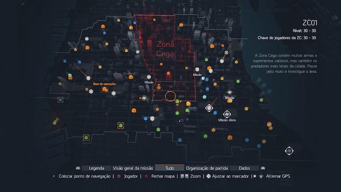 The Division: mapa completo do game (Foto: Reprodução/Victor Teixeira)