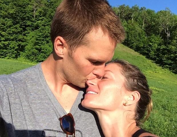 Tom Brady e Gisele Bündchen (Foto: Reprodução/Facebook)