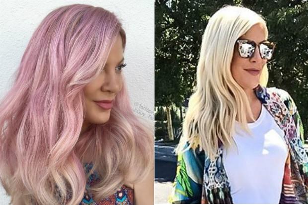 Tori Spelling: antes e depois (Foto: Reprodução/Instagram)