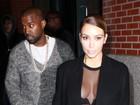 Kim Kardashian aposta em look ousado para jantar com Kanye West