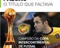 Com Interclubes, Falcão passa a ter todos os títulos do futsal: veja números