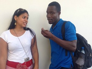 Ana Cláudia e Lucius acusam ex-deputado de tirar criança à força (Foto: Indiara Bessa/G1 AM)