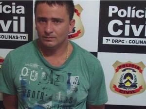 Osmar Silva foi preso por tráfico de droga e posse ilegal de arma (Foto: Polícia Civil do TO/Divulgação)