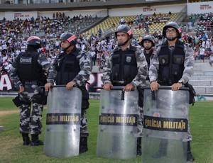 Policia Militar no Almeidão (Foto: Wagner Varela/Divulgação PM-PB)