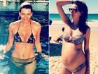 Perto do fim da gravidez, Fernanda Motta se diz muito feliz; veja antes e depois