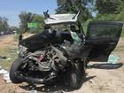 Casal de idosos morre em acidente a caminho da votação  (Katylenin França/G1)
