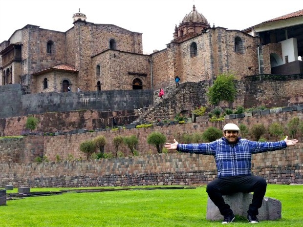George Naylor realizou o sonho de conhecer Cusco este ano (Foto: Arquivo Pessoal)