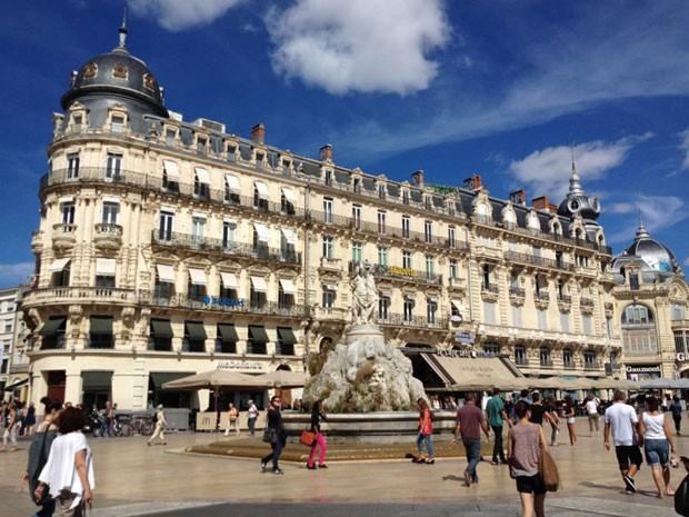 Place de la Comédie, um dos principais pontos de Montpellier (Foto: Mariana Zanon)