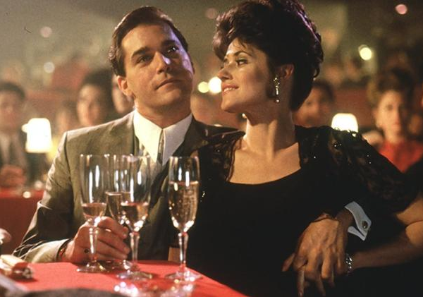 Ray Liotta e Lorraine Bracco em 'Os Bons Companheiros' (1990) (Foto: Reprodução)