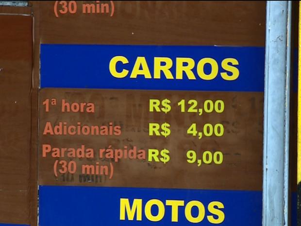 Valor médio de estacionamento em Campinas chega a R$ 15 (Foto: Reprodução EPTV)