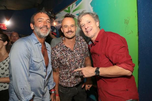 Paulo Vilhena, Marcello Novaes e Rogério Gomes, o Papinha (Foto: Reginaldo Teixeira/Divulgação)