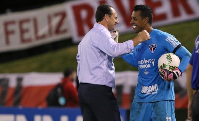 Sidão e Rogério Ceni, do São Paulo (Foto:  Rubens Chiri / saopaulofc.net)