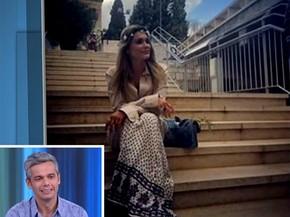 Flávia Alessandra passou por Portugal antes de seguir para Israel (Foto: Vídeo Show / Gshow)