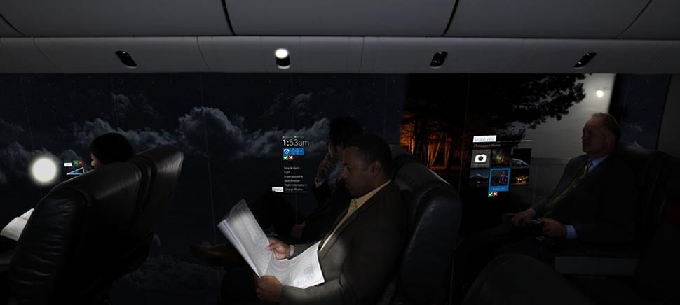 passageiros poderão escolher o próprio 'papel de parede' (Foto: Reprodução)