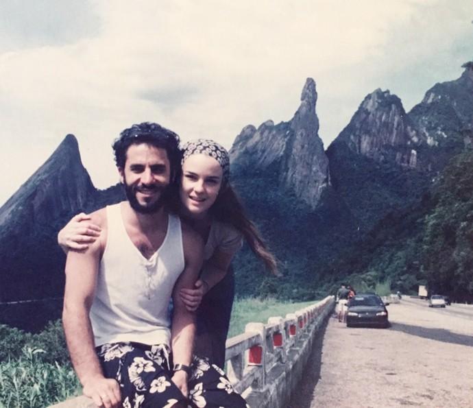 A primeira virada de Carolina Kasting e Maurício Grecco, seu marido, foi marcante (Foto: Arquivo Pessoal)