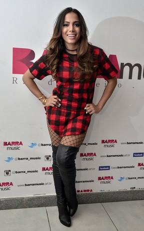 Anitta antes de show na Zona Oeste do Rio (Foto: Roberto Teixeira/ EGO)
