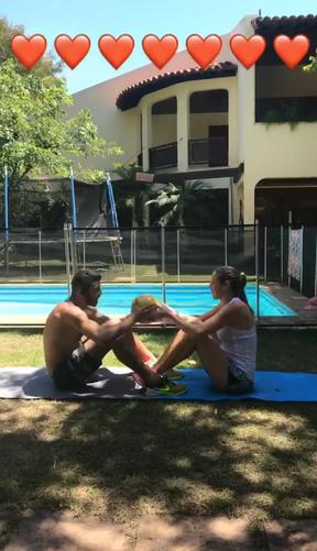 Luana Piovani e Pedro Scooby malham juntos (Foto: Reprodução/Instagram)