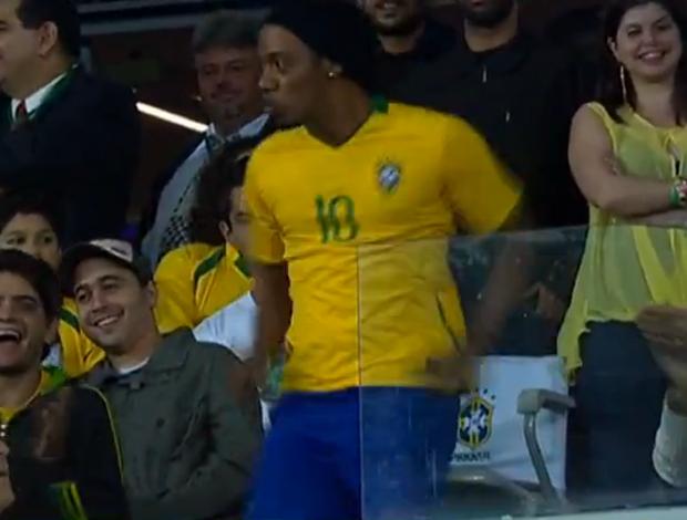 Sósia Ronaldinho Gaúcho (Foto: Reprodução/SporTV)
