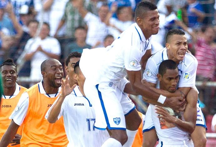 Comemoração de Honduras contra a Costa Rica (Foto: Agência AP)