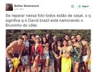 'Casal' David Brazil e Bruninho rende comentários divertidos na internet