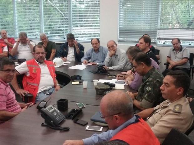 Sartori se reúne com prefeito em exercício Sebastião Melo para avaliar medidas após temporal em Porto Alegre  (Foto: Divulgação / Governo do Rio Grande do Sul)