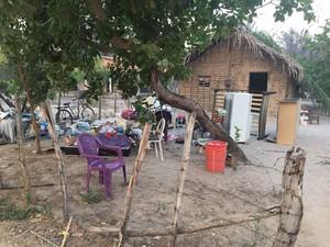 Com medo do fogo, algumas famílias estão deixando a comunidade, no PIauí (Foto: Vinicius Vainner/TV Clube)