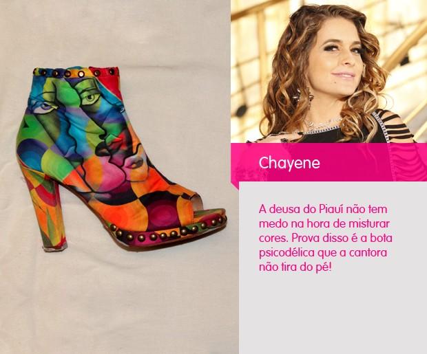 Essa ankle boot é a cara da estrela. Colorida no estilo psicodélica, a bota ilumina qualquer visual (Foto: Cheias de Charme / TV Globo)