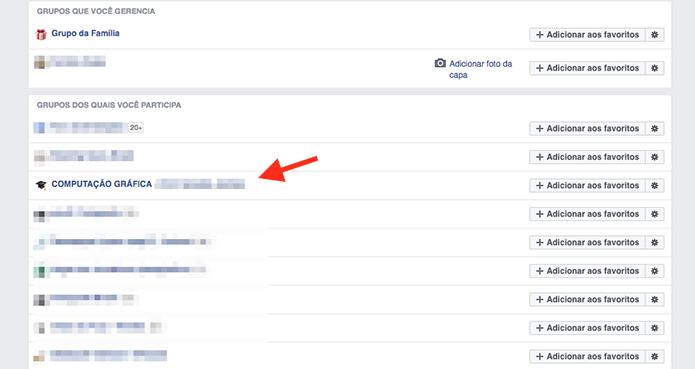 Acessando um grupo do Facebook (Foto: Reprodução/Marvin Costa)