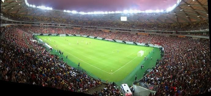 Arena da Amazônia amistoso Aldo x Pizzonia (Foto: Onofre Martins/Rede Amazônica)