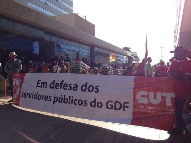 Invasão no Ministério das Cidades (Foto: Gabriel Luiz/G1)