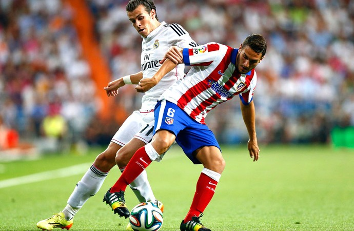 Bale e Koke, Real Madrid x Atlético de Madrid (Foto: Agência Reuters)