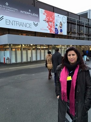 77971447e A empresária Rosana Marques durante participação em feira de lingerie em  Paris