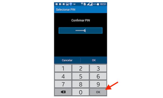 Confirmando o código PIN para bloqueio de tela do Galaxy Gran Prime Duos (Foto: Reprodução/Marvin Costa)