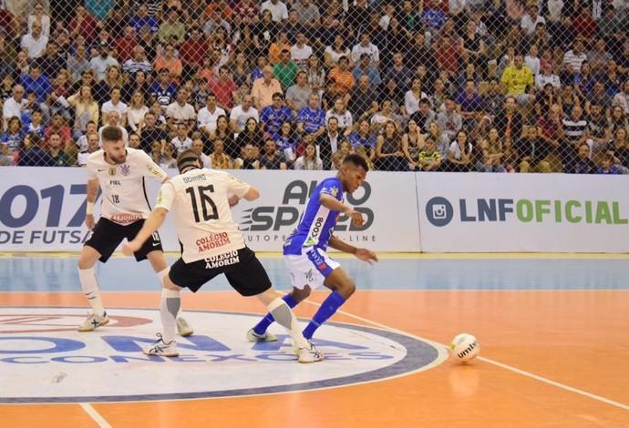 Corinthians e Joaçaba ficaram no empate (Foto: Divulgação)
