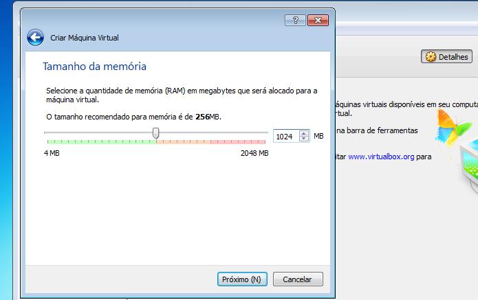 Definindo a quantidade de memória ser usada (Foto: Reprodução/Edivaldo Brito)