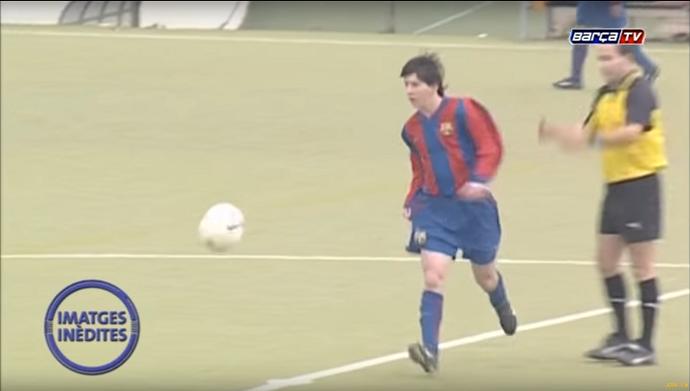 BLOG: Barcelona divulga imagens inéditas de Lionel Messi jogando aos 15 anos
