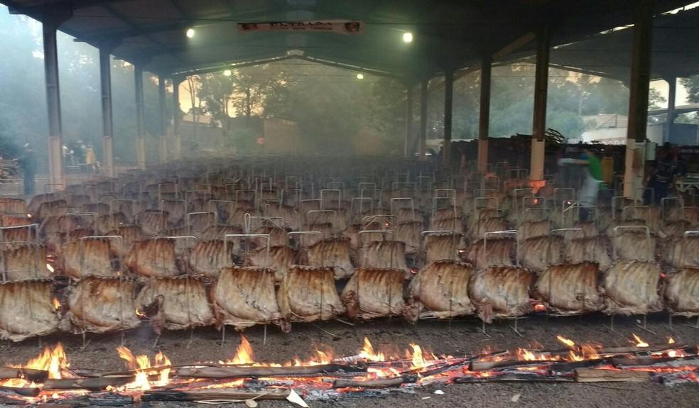 Festa é tradição no Dia do Trabalho em Cascavel  (Foto: Raquel Moraes/RPC)