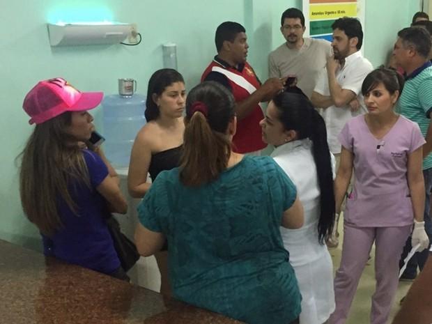 Marta está em Hospital de Santana do Ipanema, mas passa bem (Foto: Jean Souza/Alagoas na Net)