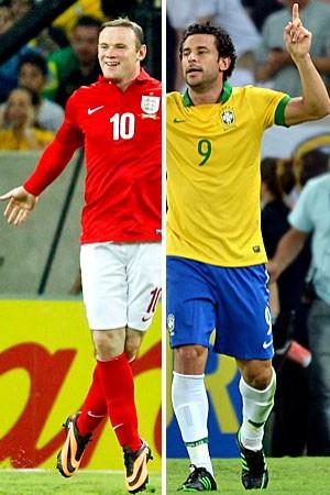 Brasil e Inglaterra empatam em  2 a 2 na abertura do Maracanã (Reuters e AFP)