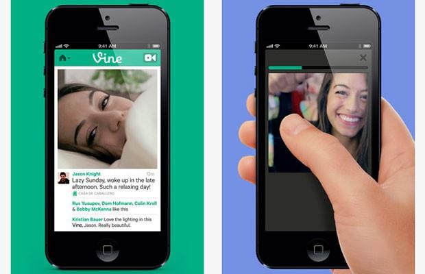 Vine funciona como um Instagram de vídeos. Para fazer as imagens, usuário deve pressionar a tela (Foto: Divulgação)
