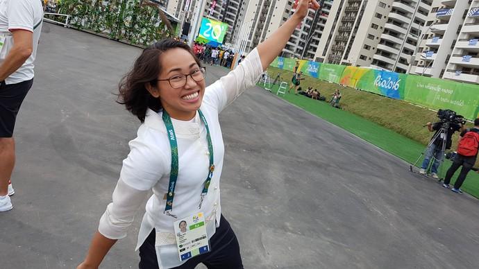 Hidilyn Diaz levantamento de peso Filipinas (Foto: Rodrigo Alves/GloboEsporte.com)