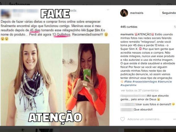 Blogueira postou um aviso sobre o falso anúncio na rede social (Foto: Reprodução/Marina Íris/Instagram)