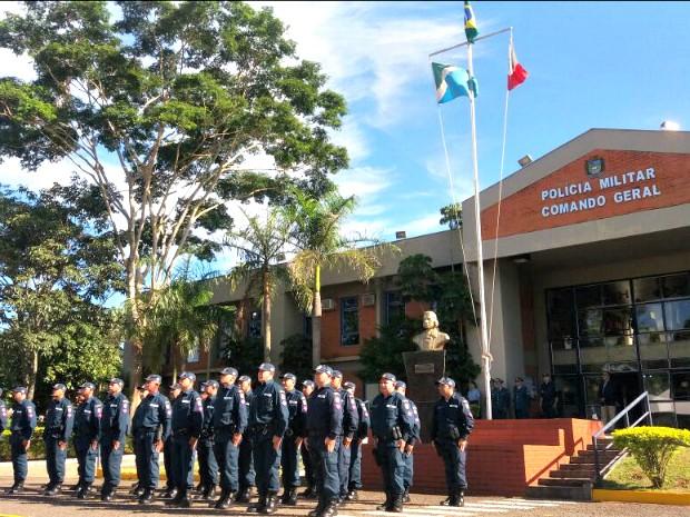 Cerimônia de passagem de comando foi nesta quinta-feira (16) (Foto: Gabriela Pavão/ G1 MS)