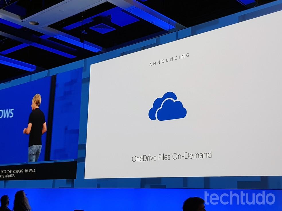 OneDrive agora tem download de arquivos sob demanda (Foto: Thássius Veloso/TechTudo)