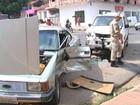 Acidente entre caminhonete e carro deixa uma pessoa ferida em Santarém