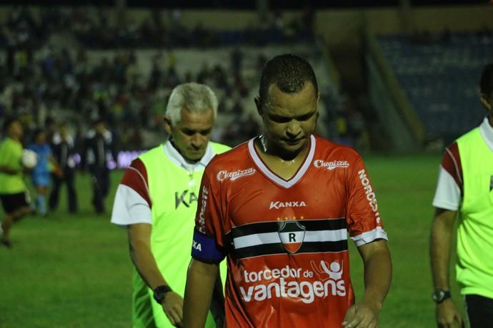 Warley, atacante do River-PI (Foto: Emanuele Madeira/GloboEsporte.com)