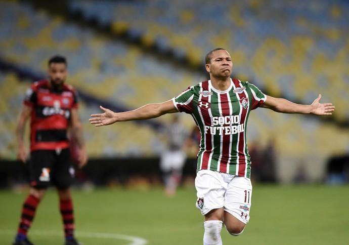 wellington silva fluminense gol atlético-go (Foto: André Durão / GloboEsporte.com)