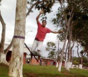 Gustavo Diniz praticava slackline hpa dois anos  (Foto: Reprodução/Facebook)
