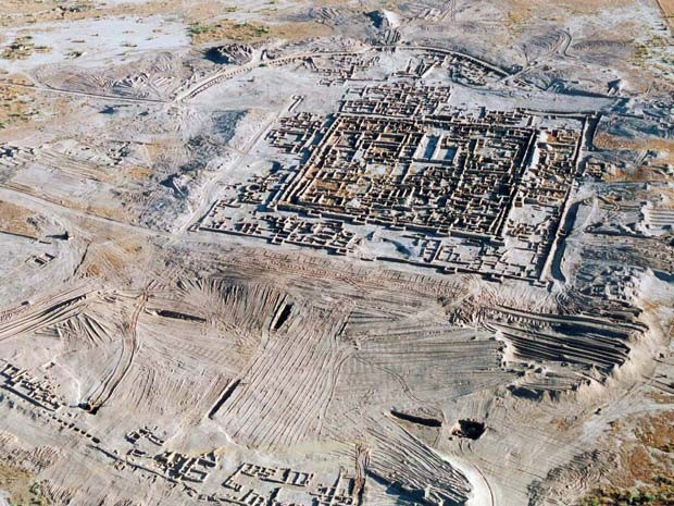 Vista aérea de Gonur-Tepe (Foto: Turkmenistan's History Museum/AFP)